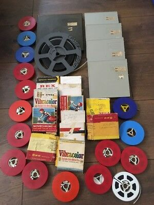 Lot Of 34 8mm Home Movies 1960's 1970's Travel Vacation Christmas Estate Finds
