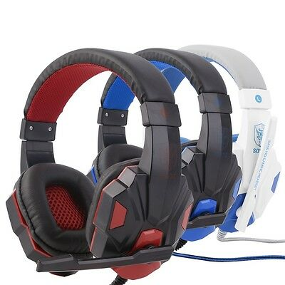 3.5mm Surround Stereo Gaming Headset Headband Headphone with Mic for PC A