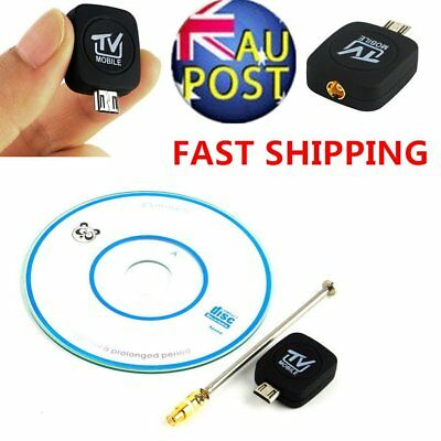 NEW Mini Micro USB DVB-T Digital Mobile TV Tuner Receiver for Android 4.0-5.0 AU