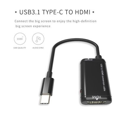 USB-C Type C to HDMI Adapter USB 3.1 Cable For MHL Android Phone Tablet LOT CN