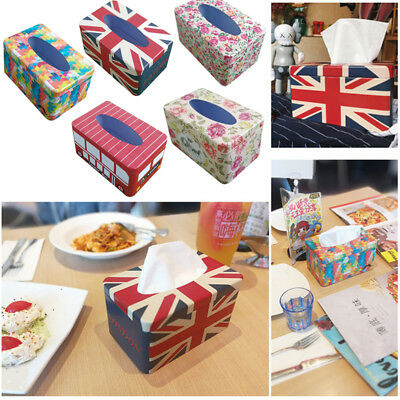 European Style Home Room Car Hotel Tissue Box Cover Paper Napkin Holder Case
