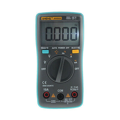 LCD Digital Multimeter Backlight AC/DC Auto Range Ohm Ammeter Temperature Tester
