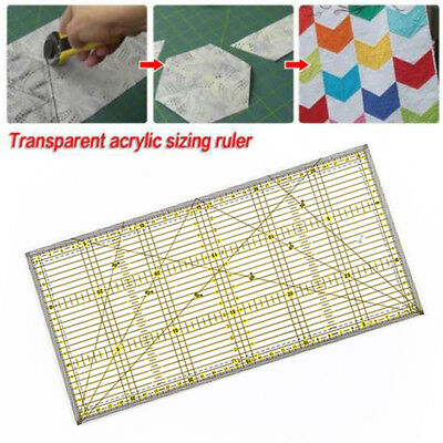 30X15cm Acrylic Quilt Quilting Grid Ruler Patchwork Tailor Sewing Cutting Ruler
