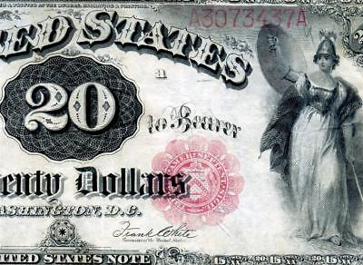 HGR SUNDAY 1880 $20 Legal Tender ((RARE Issue)) LIGHTLY CIRCULATED