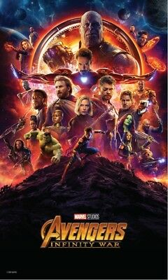 "AVENGERS INFINITY WAR (13""x20"" / 24""x36"") MOVIE POSTER MARVEL(TEXTLESS)"