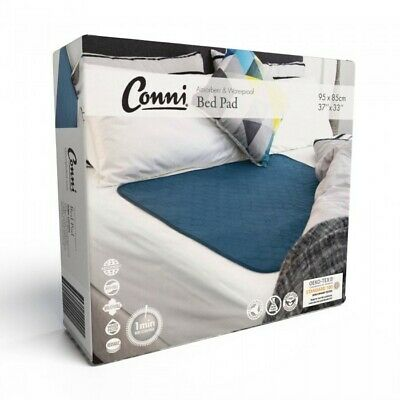 Conni Reusable Bed Pad Teal Blue Conni