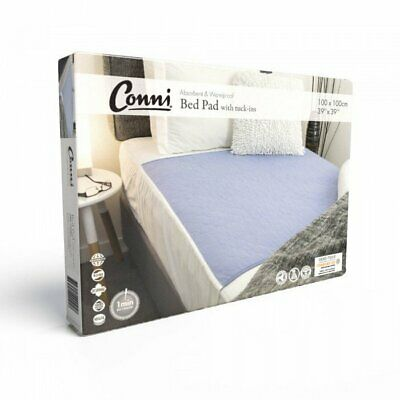 Conni Reusable Bed Pad with Tuck-Ins Mauve Conni