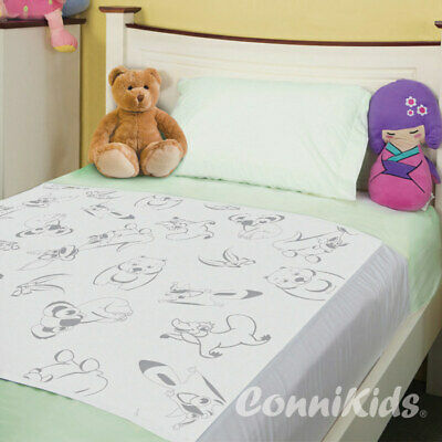 Conni Kids Reusable Bed Pad with Tuck-Ins Aussie Animals Conni