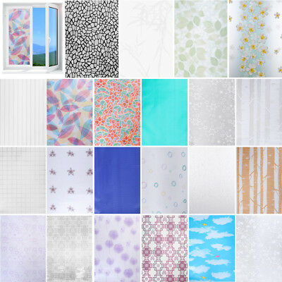 45*200cm Glass Bathroom PVC Frosted Window Decal Self-adhesive Film Wall Sticker