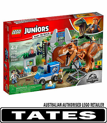 LEGO 10758 T Rex Breakout Juniors JURASSIC WORLD from Tates Toyworld