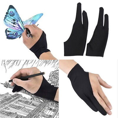 Professional S/L Size Graphic Tablet Artist Sketch Drawing Two Finger Glove