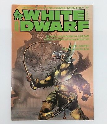 White Dwarf Issue No 61 January 1985 Games Workshop Warhammer D&D Tsr Magazine