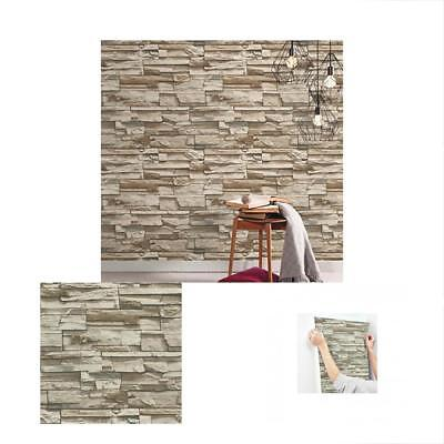 """RMK9025WP Stacked Stone Peel And Stick Wallpaper, 20.5"""" X 16.5"""", Brown"""