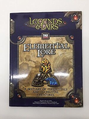 Dungeons & Dragons Legends & Lairs Elemental Lore D20 System Tsr Ffg D&d Rpg