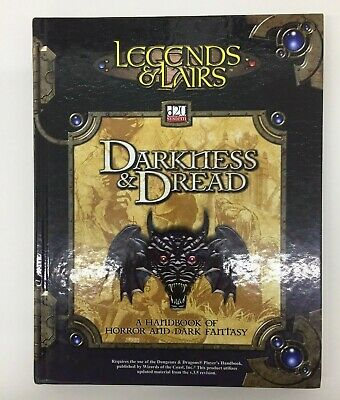 Dungeons & Dragons Legends & Lairs Darkness & Dread D20 System Tsr Ffg D&d Rpg