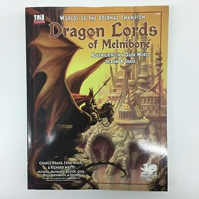 D20 System Dungeons & Dragons Dragon Lords Of Melnibone Book Chaosium D&d Rpg