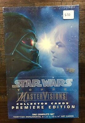 Star Wars Topps Mastervisions Collector Cards Premiere Edition Complete Set 1995