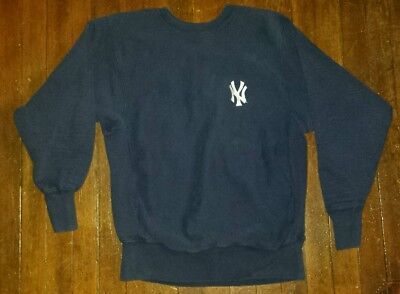 VTG NY Yankees Reverse Weave Champion Sweatshirt Made in USA Sz. L