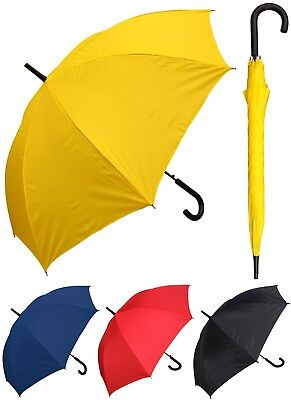 "48"" Arc Doorman, Black Handle Umbrella-RainStoppers, Rain/Sun UV, Fashion,Travel"