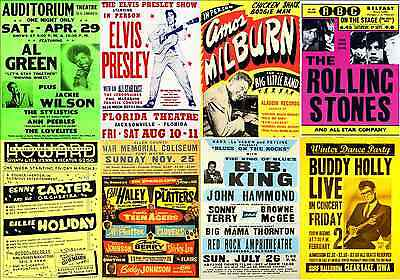 Print & Sell Over 150 Fantastic 'Print Ready' Vintage Concert Posters - FREE P&P