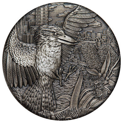 2018 Australia 2 oz. High Relief Silver Kookaburra Antiqued $2 Coin BU SKU53412