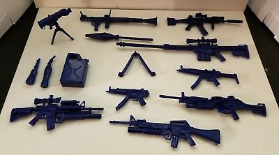 Marvel Legends Scale Lot Of 12 Different Weapons Guns Sniper Rifle Mp5 Dcuc 1/12