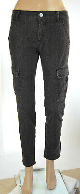 Jeans Donna Pantaloni MAX MARA Slim Fit Marrone Scuro D755 Tg 27 30