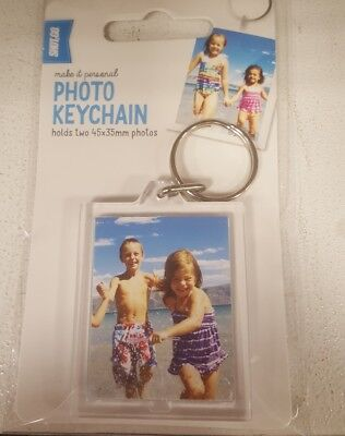 Personalized Photo Key Chain  Key Ring Anniversary Birthday Gift Holds 45X35 Mm
