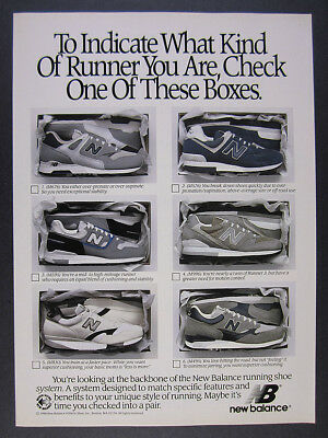 1989 New Balance M 676 576 595 996 830 495 Running Shoes vintage print Ad