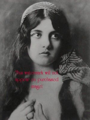Old VINTAGE Antique BEAUTIFUL GYPSY  (2) Photo Reprint