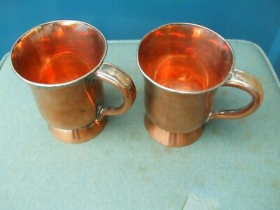 Matching Pair Of Antique Tankards By Askew Nottingham