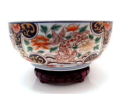 Fine Quality Antique 19Th C Meiji Period Japanese Arita Imari Porcelain Bowl