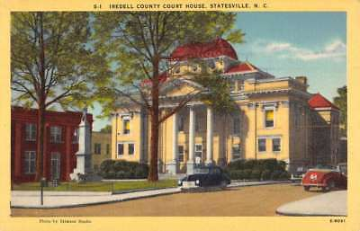 Statesville North Carolina Iredell Court House Confederate Postcard K90976