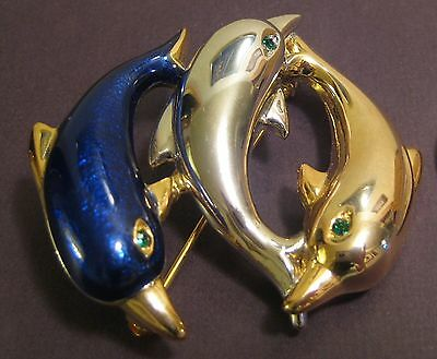 Vintage Three Dolphins Brooch
