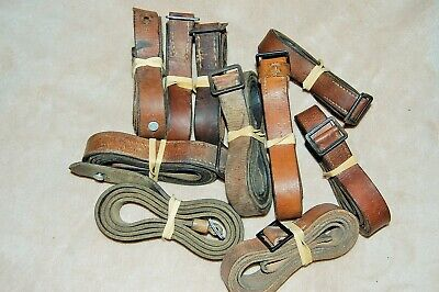 ORIGINAL GERMAN MILITARY FACTORY LEATHER RIFLE SLING USED Surplus