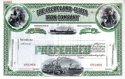 Cleveland Cliffs Iron Company of Ohio - SPECIMEN Stock Certificate #1