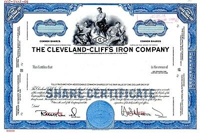 Cleveland Cliffs Iron Company of Ohio - SPECIMEN Stock Certificate #2