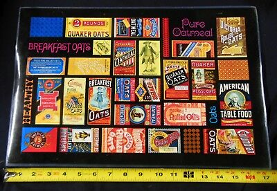 1990 Lot of 4 A&P Grocery Store Quaker Oats Placemats 125th Anniversary Nice