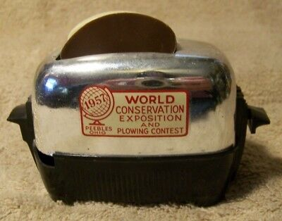 Toaster Salt & Pepper,1957 World Conservation Expo.& Plowing Contest, Peebles,Oh
