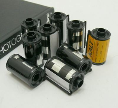 Bulk film reload canisters for 35mm film,  Lot of 9. Re-use over and over.