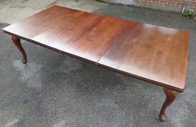 LARGE Edwardian antique solid mahogany extending dining kitchen table seat 12 +