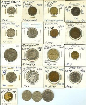 World Misc. 1916-1994 Mixed Denominations Nice 20 Coin Collection