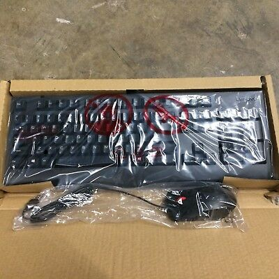 Lot of 5 New Lenovo USB wired Keyboard and Optical Mouse Combo FREE SHIPPING