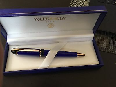 Waterman Phileas  Royal Blue    & Gold  Ballpoint Pen   New In Box