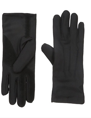 Isotoner Women's Stretch Classics Unlined Gloves- Black and Camel One Size