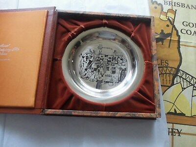 collectable1972 solid sterling silver franklin mint  thanksgiving plate