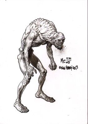 Glenn Fabry  Monster designs   original drawing       2000AD preacher hellblazer
