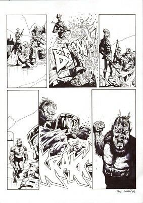 2000AD  JUDGE DREDD  the shroud    page   Paul Davidson    original   2000ad