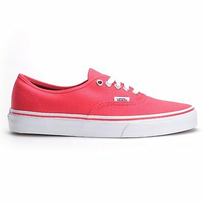 905e32cea4 Vans Unisex Authentic Teaberry White Skate Shoes-Red Happy Hawaii Mens 8.5