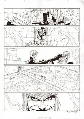 2000AD  JUDGE DREDD Furies  page   Paul Davidson    original   2000ad